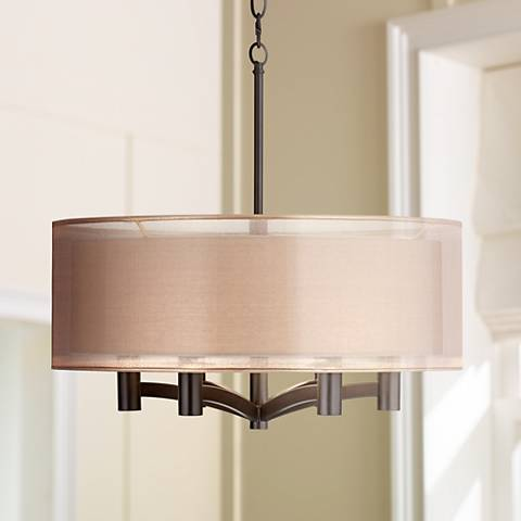 "Possini Euro Caliari 6-Light 22"" Wide Bronze Pendant Light"