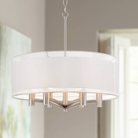 Caliari 6 Light 22 Quot Wide Brushed Nickel Pendant Light