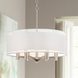 "Caliari 6-Light 22"" Wide Brushed Nickel Pendant Light"