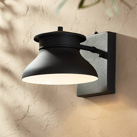 "LED Energy Efficient Black 6"" High Outdoor Wall Light"