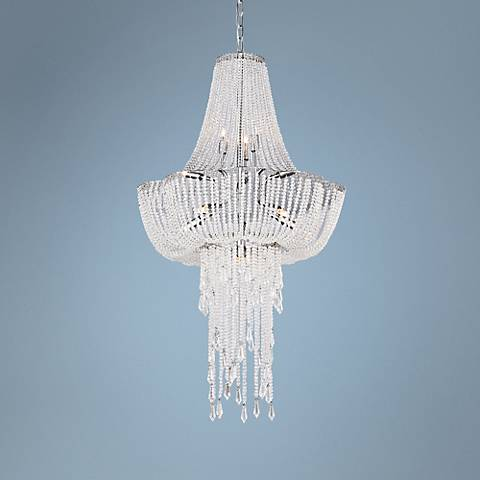 "Lite Source Paaveli II 20"" Wide Crystal Pendant Light"