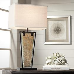 Zion Tapered Slate Table Lamp by Franklin Iron Works