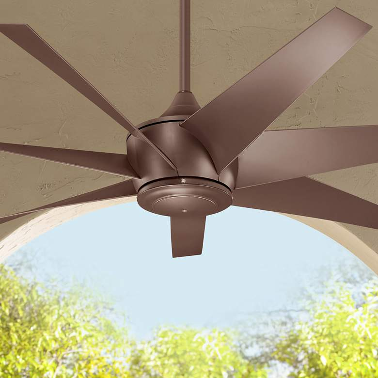 "54"" Kichler Lehr II Climates Mocha Outdoor Ceiling"
