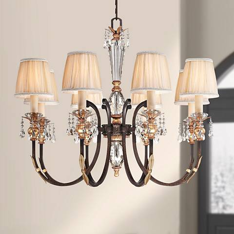 "Metropolitan Bella Cristallo 35"" Wide Bronze Chandelier"