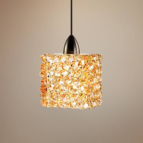 "WAC Haven LEDme® 3"" Wide Champagne Crystal  Mini Pendant"
