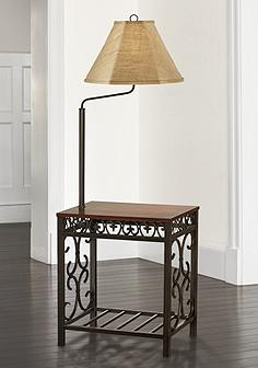 Floor lamps with tray table lamps plus travata end table floor lamp aloadofball Choice Image