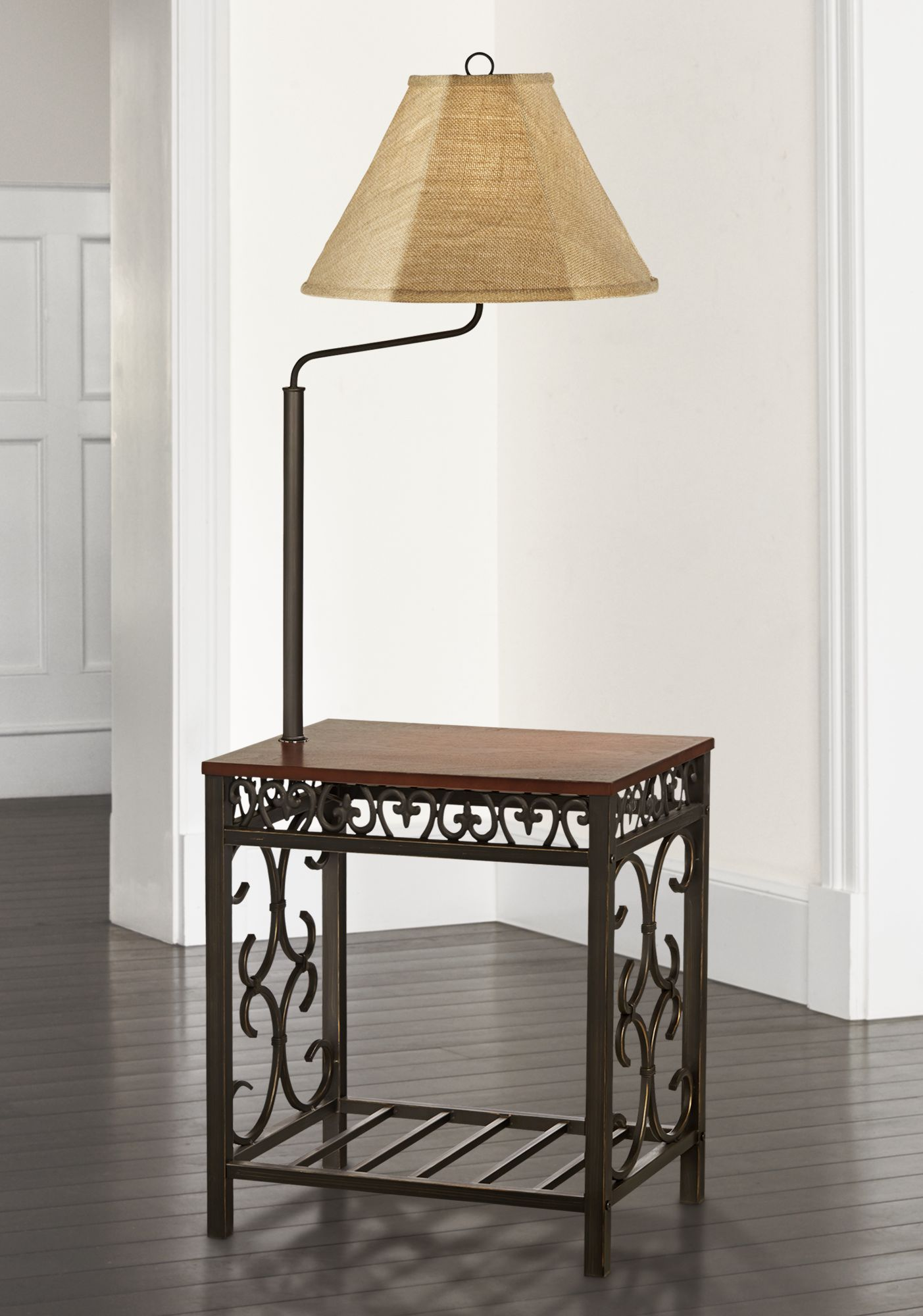 Charmant Travata End Table Floor Lamp