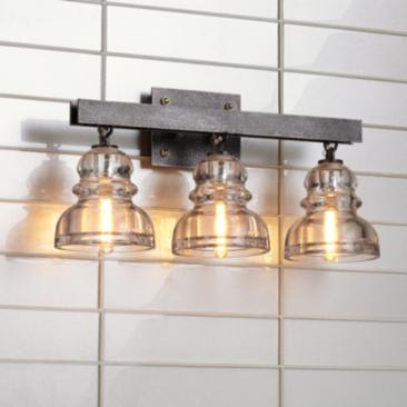 "Menlo Park 20 1/2"" Wide Old Silver Bath Light"