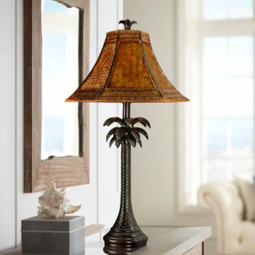 French Verdi Palm Tree Table