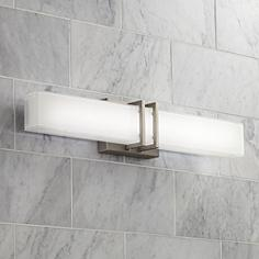 Led bathroom lighting led vanity lights and light bars lamps plus possini euro exeter 24 possini euro exeter 24 wide nickel led bathroom light aloadofball