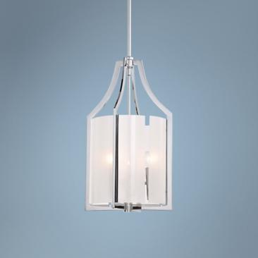 "Clarte Collection 12"" Wide White Iris Glass Pendant Light"
