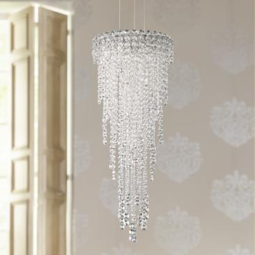 "Schonbek Chantant 14"" Wide Large Crystal Pendant Light"