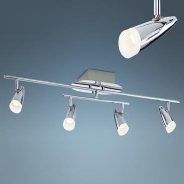 Pro Track Roadster LED 4-Light Chrome Track Fixture