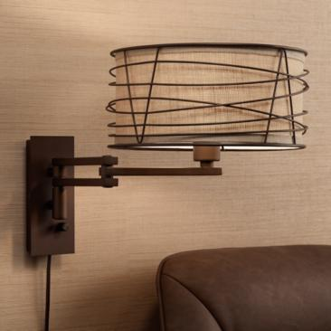 Franklin Iron Works Marlowe Bronze Metal Swing Arm Wall Lamp