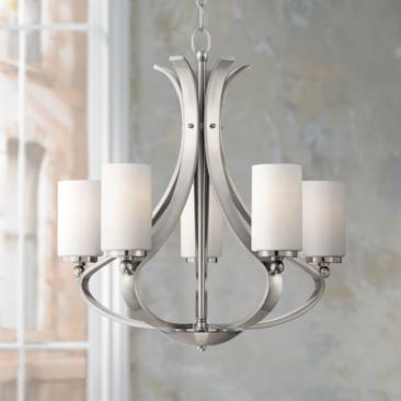 "Possini Euro Kadence 5-Light 23 1/4""W Nickel Chandelier"