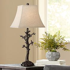 Regency hill table lamps lamps plus cawthorne birds in tree table lamp mozeypictures