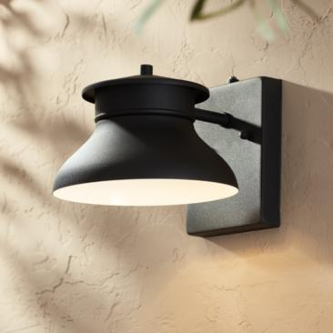 "Danbury 6"" High Black Dusk to Dawn LED Outdoor Wall Light"