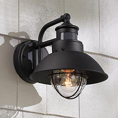 Outdoor dusk to dawn lights outdoor lighting lamps plus more options fallbrook 9 fallbrook 9h black dusk to dawn motion sensor outdoor light aloadofball Choice Image