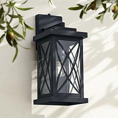 Black dusk to dawn outdoor lighting lamps plus woodland park black 15 aloadofball Choice Image