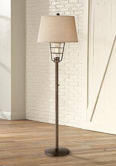 Naturals rustic lodge floor lamps lamps plus industrial nightlight lantern floor lamp mozeypictures Choice Image