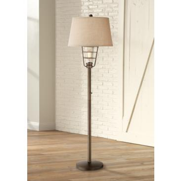 Industrial Nightlight Lantern Floor Lamp