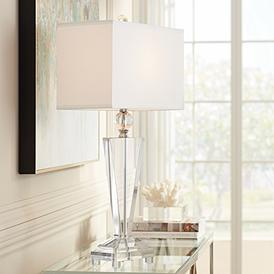 White Ivory Crystal Table Lamps Luxe Living Lamps Plus
