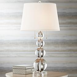 Vienna Full Spectrum Stacked Crystal Spheres Table Lamp