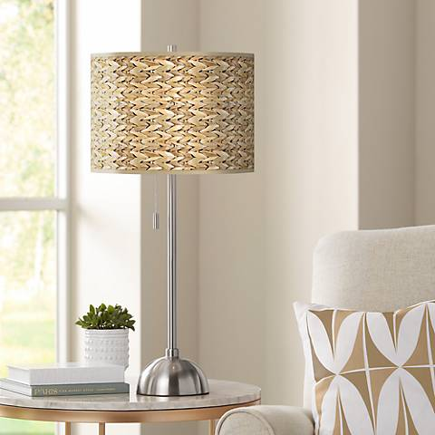 Seagrass Pattern Giclee Shade Table Lamp
