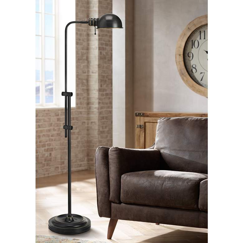 Bixby Brushed Bronze Metal Pharmacy Floor Lamp