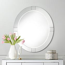 "Possini Euro Mackenzie 28"" x 32"" Frameless Oval Mirror"