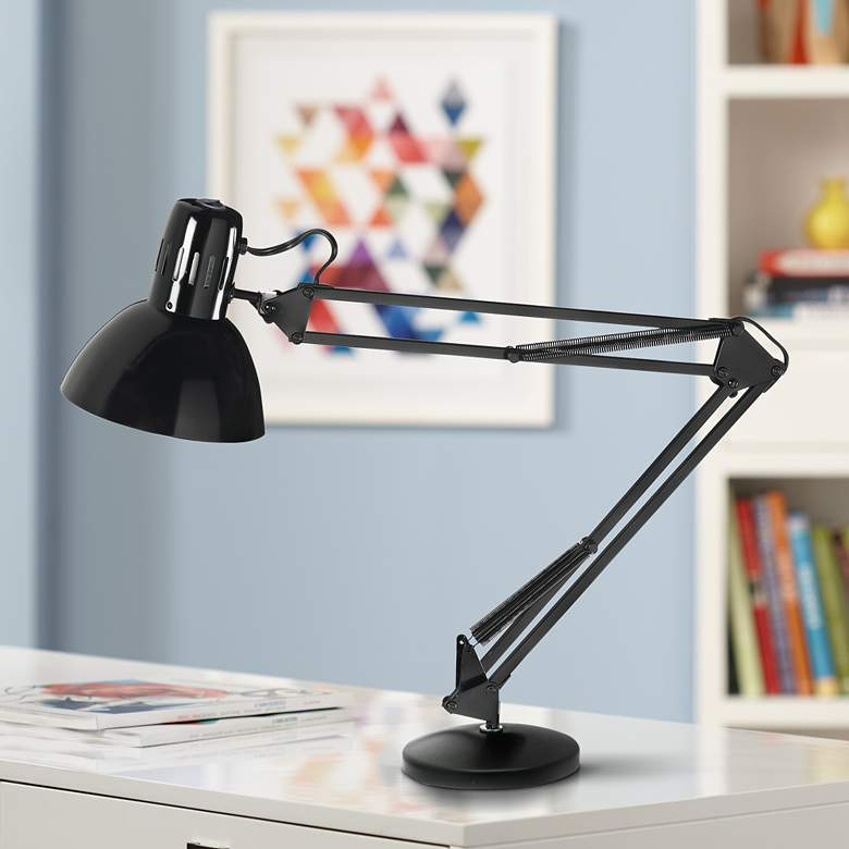 Bureau Black Adjustable LED Desk Lamp