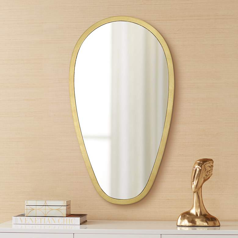 "Trance Gold 20"" x 36"" Oblong Wall Mirror"