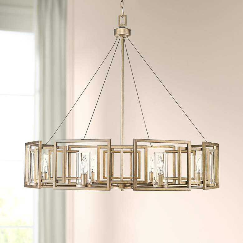 "Marco 35 1/2"" Wide White Gold 8-Light Chandelier"