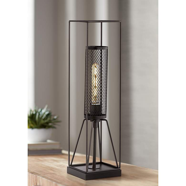 Kathy Ireland Welcome Home Oil-Rubbed Bronze Table Lamp