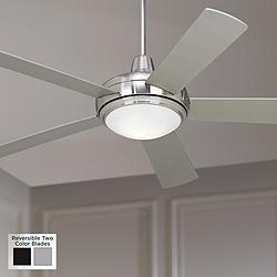 "52"" Casa Compass™ Brushed Nickel LED Ceiling Fan"