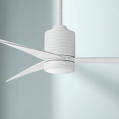 "56"" Minka Aire Mojave Flat White LED Ceiling Fan"