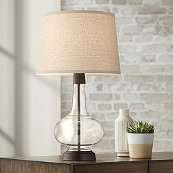 Silas Bronze-Rubbed Metal and Glass Table Lamp
