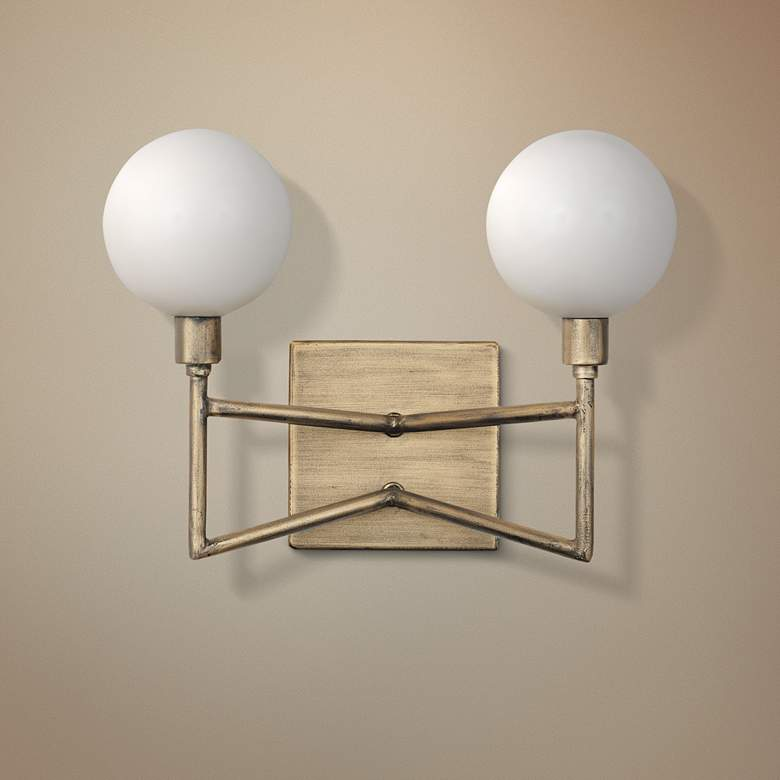 "Varaluz Bodie 5 1/4""H 2-Light Havana Gold Wall Sconce"