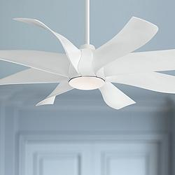 "60"" Minka Aire Dream Star White LED Ceiling Fan"