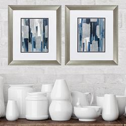 "Mirage 18"" High 2-Piece Framed Wall Art Set"