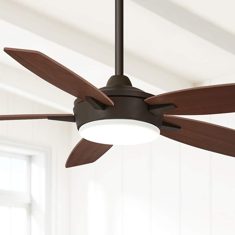 "52"" Minka Aire Espace Oil Rubbed Bronze LED Ceiling Fan"
