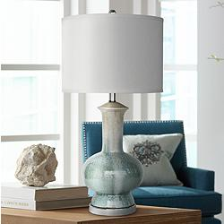 Crestview Collection Sea Breeze Blue Ceramic Table Lamp