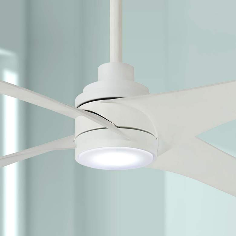 "56"" Minka Aire Swept Flat White LED Ceiling Fan"