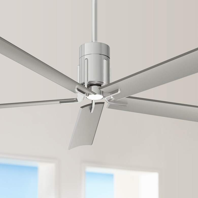 "60"" Minka Aire Clean Polished Nickel LED Ceiling"