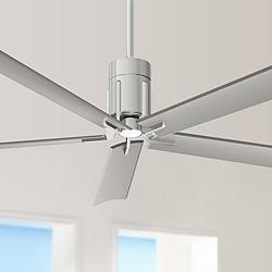 "60"" Minka Aire Clean Polished Nickel LED Ceiling Fan"