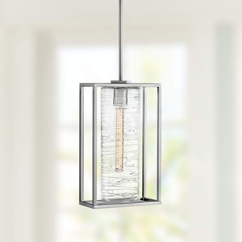 "Hinkley Pax 11"" Wide Brushed Nickel Mini Pendant"