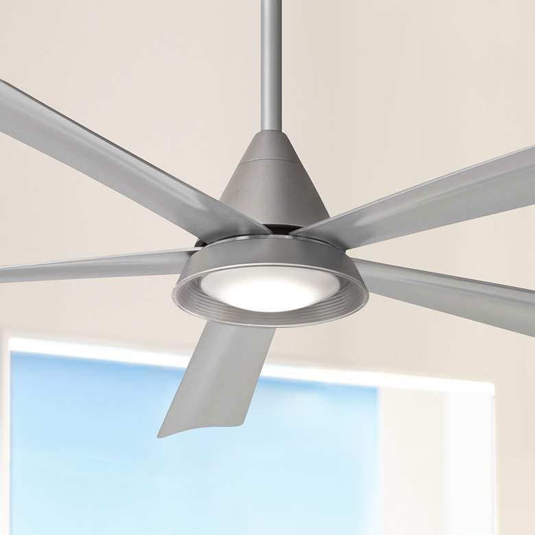 "54"" Minka Aire Cone Silver Wet LED Ceiling Fan"
