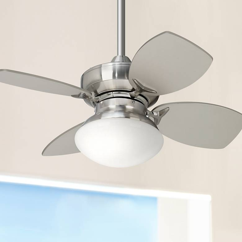 "28"" Casa Vieja Hana Bay Brushed Nickel LED Ceiling Fan"