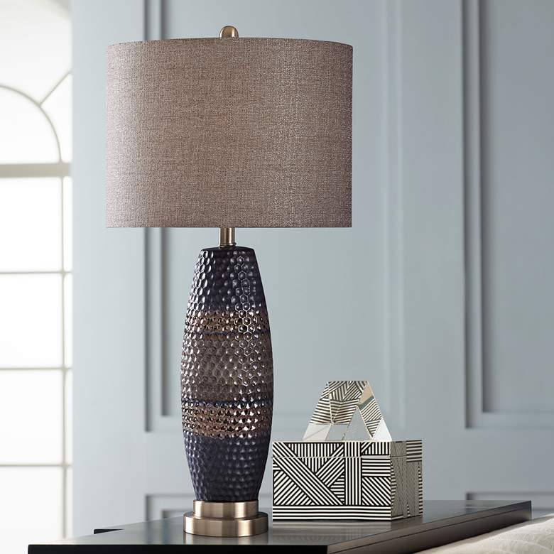 Laughlin Black and Brown Table Lamp with Brown