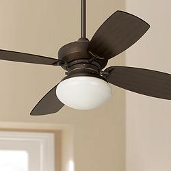 "36"" Casa Vieja Outlook Oil Rubbed Bronze LED Ceiling Fan"